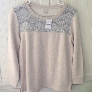 Tan J.Crew sweater